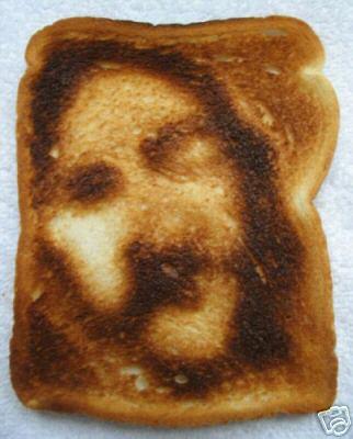 Image of Jesus seen in toast