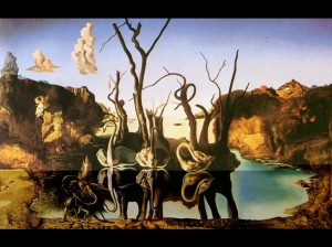 Salvador Dali - Swans Reflecting Elephants