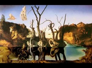 Salvador Dali - Swans Reflecting Elephants