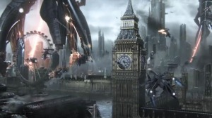 Reapers destroy London promo picture Mass Effect 3