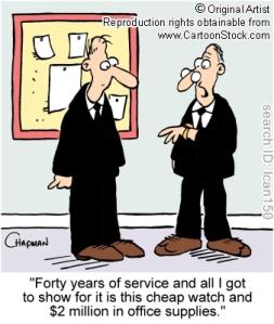 Office supply stealing cartoon
