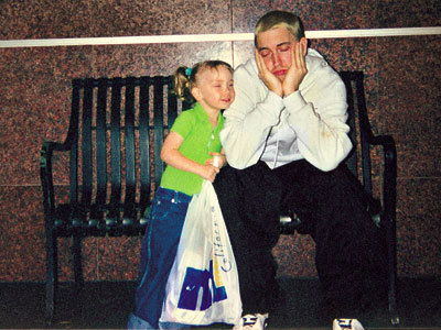 Eminem and a child